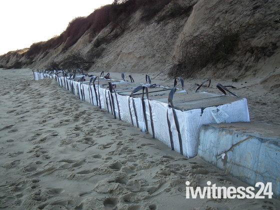 Repetition Hemsby beach concrete defences