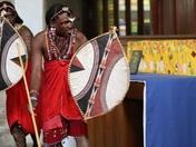 The beautiful Maasai warriors entertaining us