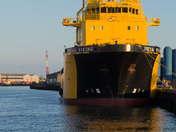 Ship in Great Yarmouth Harbour