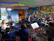 Angel Road Junior School steel pan practice