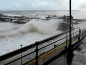 High tide at Cromer Pier, October 10, 2013