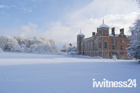 Blickling Hall in the snow