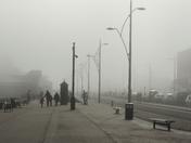 Sea Fog on Great Yarmouth Sea Front