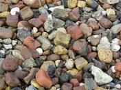 Cluster of broken bricks and stones