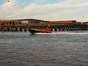 Pilot Boat returns to Harbour at Gt Yarmouth