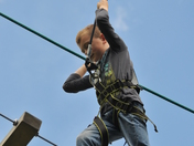 7yr old walking the Adult Aerial Walk at Banham Series