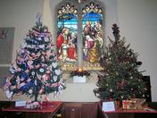Xmas tree festival at Somerleyton Church