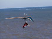 Hand gliding in Corton