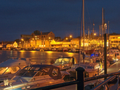 The harbour at night, Wells-next-the-sea, Norfolk