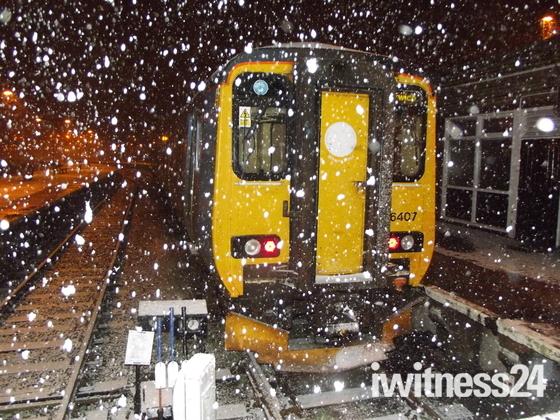 Snow at Great Yarmouth