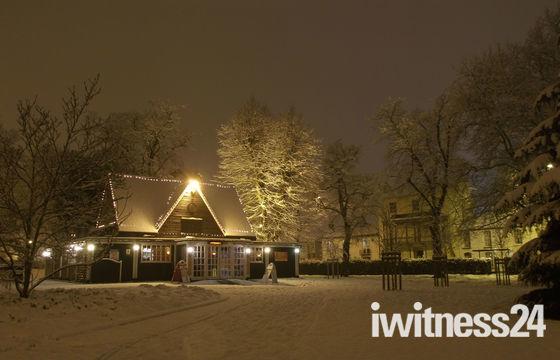 Chapelfield Gardens in the snow