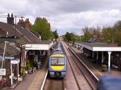 Train coming in to Wymondham station