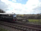 Diesel Railbus Arrives Weybourne
