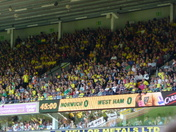 Half time and full time at Carrow Road