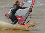 High wind windsurfing at Hunstanton