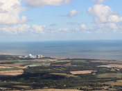 Aerial of Sizewell B and surrounding area