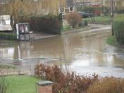 Burst water pipe Bunwell Road/Besthorpe Road