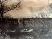 Great train robbery carriage being burnt at Wymundham