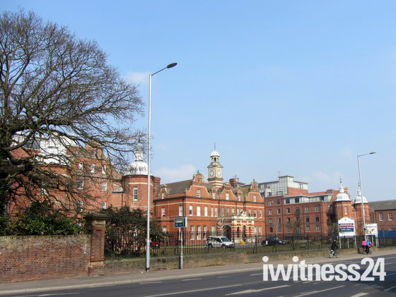 The Old Norfolk and Norwich Hospital 1913 and today