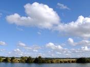 Big sky over the lake