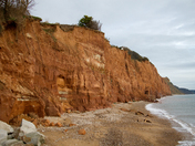 Cliff Falls in Sidmouth
