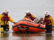 Exmouth RNLI Lifeboat launch