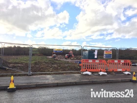 Work beginning on the bridge over North Devon Link Road