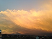 Storm over Exmouth, as seen from Exminster