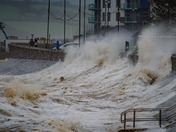 Exmouth takes a winter battering