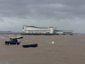 Gale force winds Weston super-mare.
