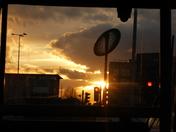 Sun set in Gants Hill