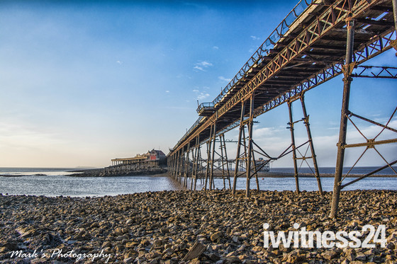 Birnbeck pier and sunset