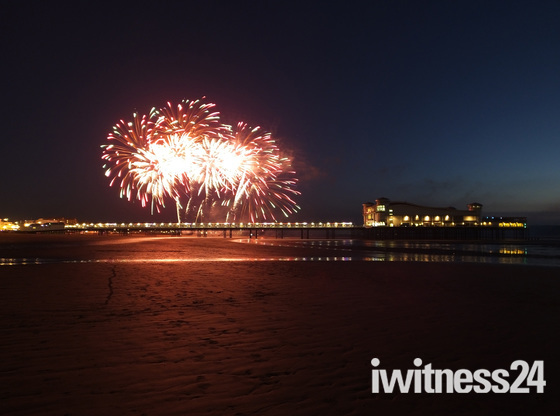 Fireworks over Grand Pier