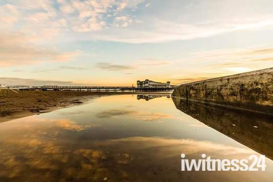 Weston pier sunset