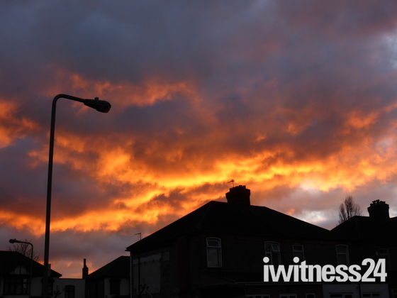 Sunset in Gants Hill Ilford