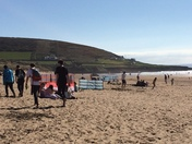 Busy Croyde beach