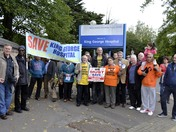 Protest at closure of A & E at King George Hospital