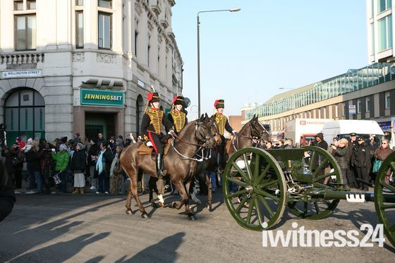 Kings Troop move to Woolwich