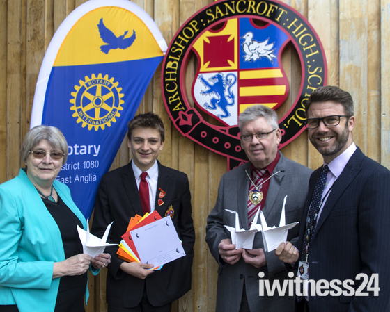 Harleston's Future's 1000 cranes for Peace 'get wings'