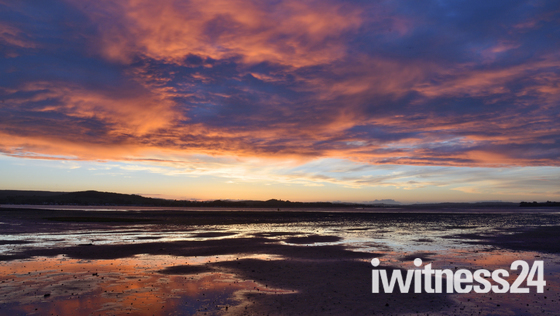 Amazing colour over the Exe-Estuary.