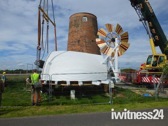 Horsey Wind Pump Cap Restored