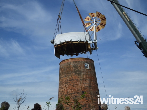 Horsey Wind Pump Cap Restored