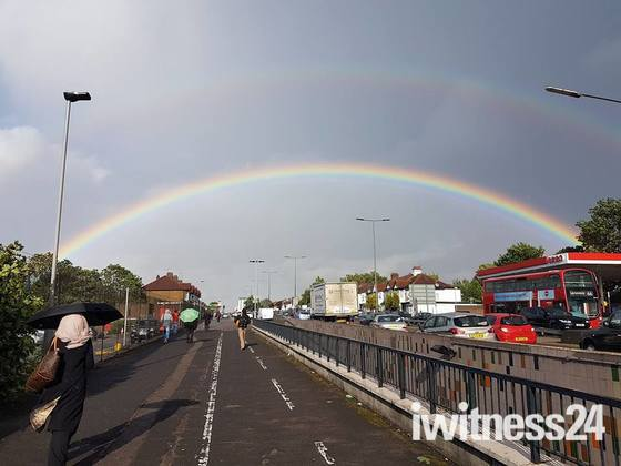 Rainbow by Redbridge Station