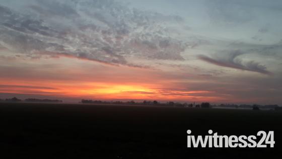 Sunset in Suffolk.