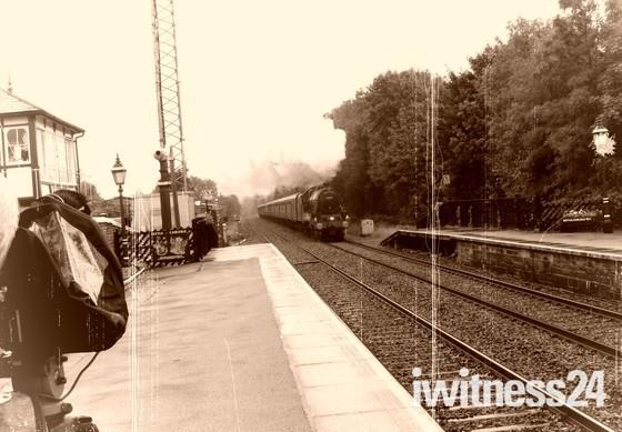 Fellsman Steam train at Settle