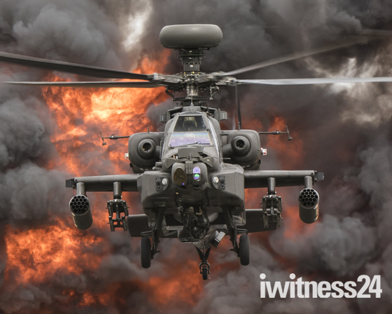Apache  Helicopter Display Team from Wattisham