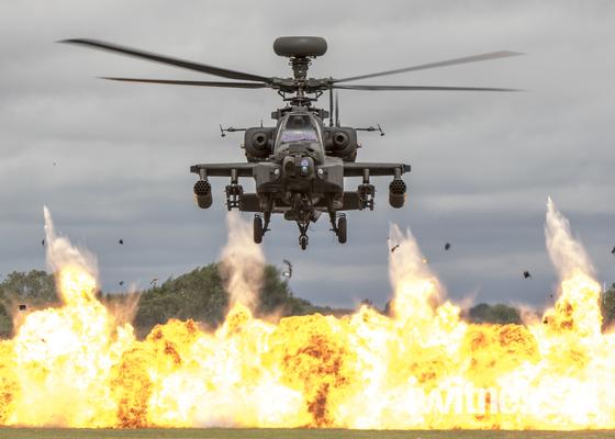 Apache  Helicopter Display Team from Wattisham