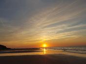 Sunset at West Runton beach
