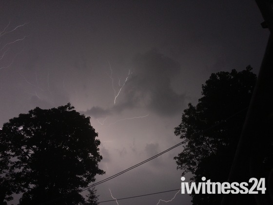 Lightning storm over Hornchurch