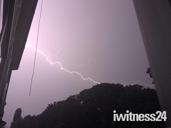 Lightning storm over Hornchurch